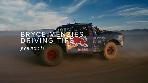 Bryce Menzies Driving Tips